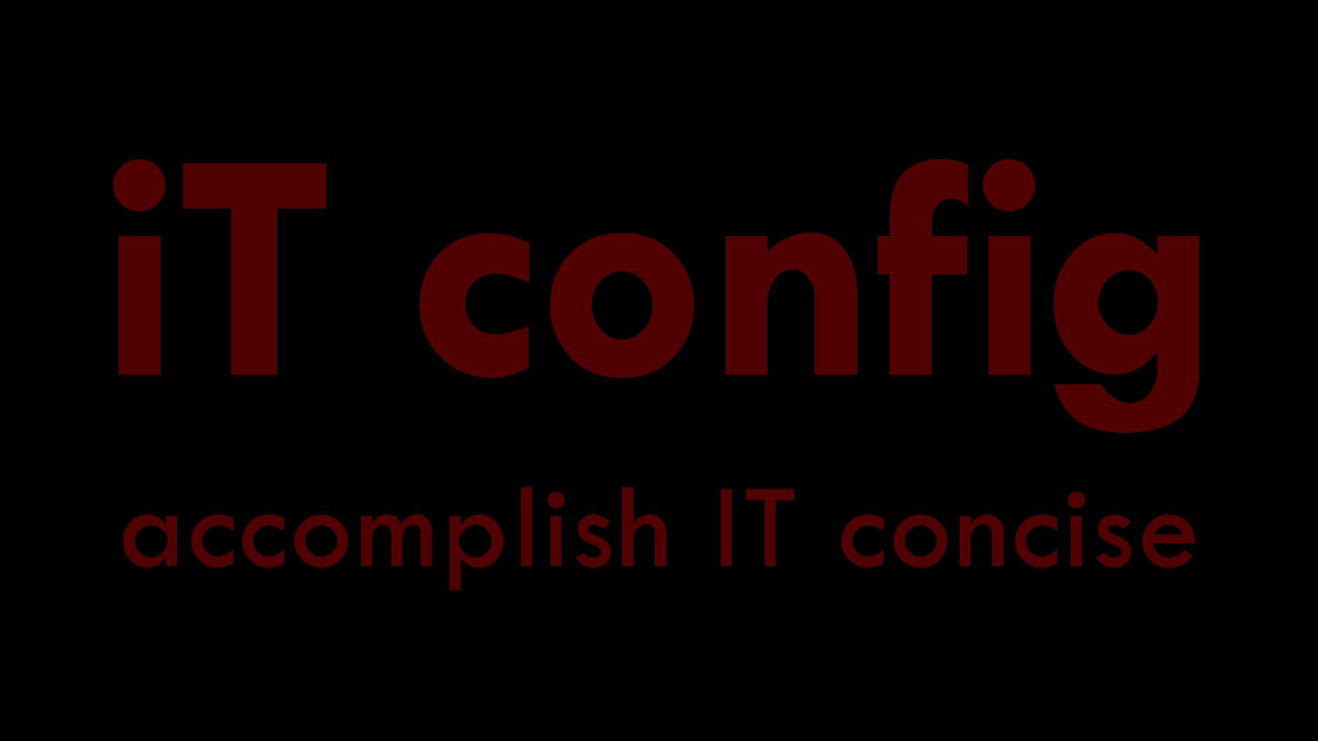 iT config